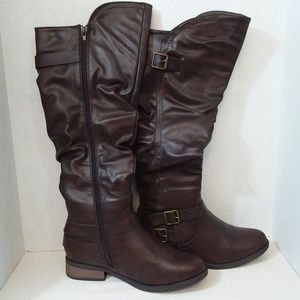 Olivia Miller Brown Riding Boots Size 7.5
